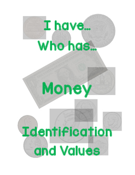"""I have... Who has..."" Money -  Coin Identification and Values"