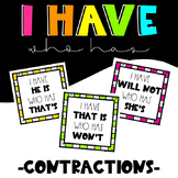 """I have..."" ""Who has...?"" - Contractions"
