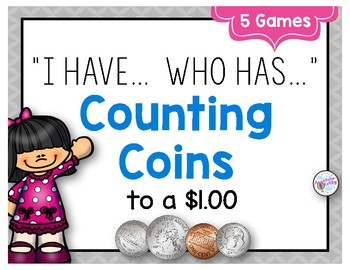 """Money: Counting Coins """"I have, Who has"""" Game"""