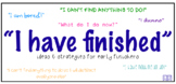 """""""I have finished"""" - Early Finishers Ideas & Strategies"""