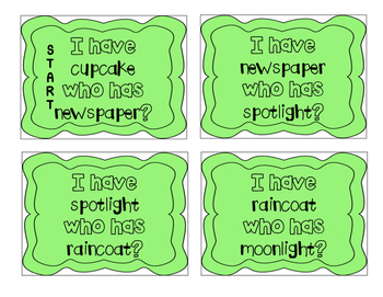 """""""I have, who has?"""" Compound Words"""