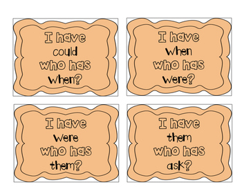 """I have, who has?"" First Grade Sight Words"