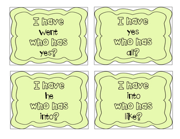 """""""I have, who has?"""" Primer Sight Words"""