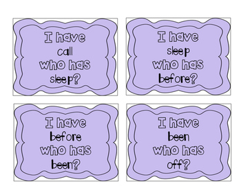 """""""I have, who has?"""" Second Grade Sight Words"""