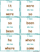"""I have who has"" Sight Word Game: Set 2"