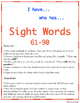 """""""I have who has"""" Sight Word Game: Set of 3 games!"""