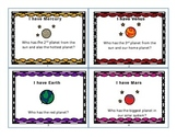 """I have, who has?"" Solar System game"
