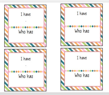 """I have"" ""who has?"" sight word cards"