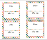 """""""I have"""" """"who has?"""" sight word cards"""