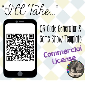 """I'll Take..."" QR Code Generator and Game Show Templatae - Commercial License"