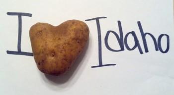 """I luv Idaho"" potato photo"