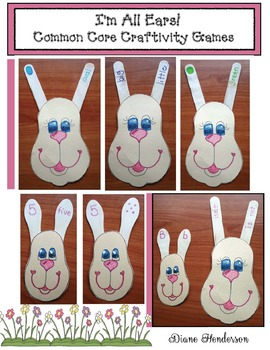 """I'm All Ears!"" FREE Common Core Bunny Craftivity Games"