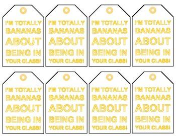 """I'm Bananas"" Appreciation Tags"