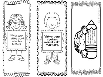 """I'm Done!"" Task Card Bookmarks (First and Second Grade)"