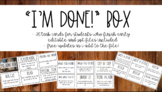 """""""I'm Done!"""" Early Finisher Task Cards"""