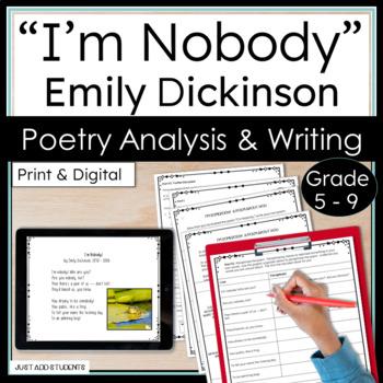 "Emily Dickinson ""I'm Nobody"" Poem -- Poetry Analysis"
