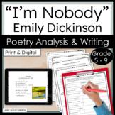 "Emily Dickinson ""I'm Nobody"" Poem -- Poetry Analysis and C"