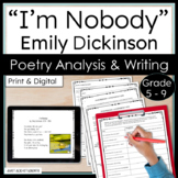 "Emily Dickinson ""I'm Nobody"" Poem -- Poetry Analysis"