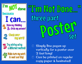 """""""I'm Not Done"""" Poster - Fast Finishers"""