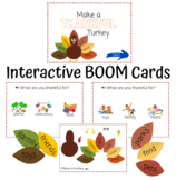 """""""I'm Thankful For"""" Activity BOOM Cards with FREE Thankful Turkey Printable"""