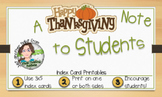 """I'm Thankful for You"" Thanksgiving Note Card - Index Card"