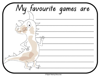 """I'm a Dirty Dinosaur"" rhyming word games and more!"