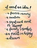 """I need an idea"" Digital Anchor Chart"