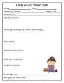 """I read with my teacher today"" Reading Workshop Conference Form"