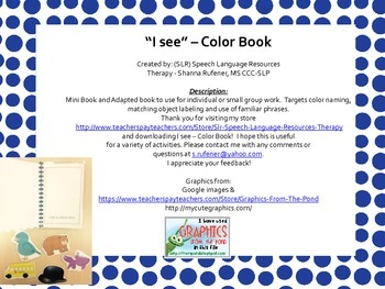 """I see..."" Color Book"