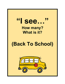 """I see""- How many? What is it? (BACK TO SCHOOL)"