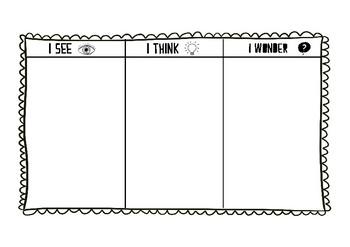 """I see, I think, I wonder"" template"