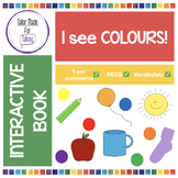 Interactive Book for 'I see' PECS comments - Colors