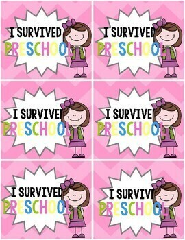 """""""I survived (grade)"""" End of the Year Brag Tags"""