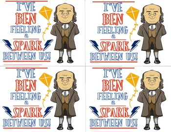 """I've Been Feeling a Spark Between Us"" Ben Franklin Historical Valentine"