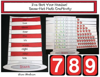 """I've Got Your Number!"" Seuss-Hat Math Craftivity"