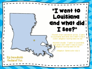 """I went to Louisiana and what did I see?""  (colored alligators)"
