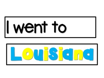 """""""I went to Louisiana and what did I see?""""  (colored alligators)"""