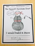 """""""I would build a snow...""""- The Biggest Snowman Ever! Follow Up Activity"""