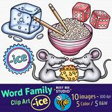 """-ICE"" Word Family Clip Art   Magic E Clipart"