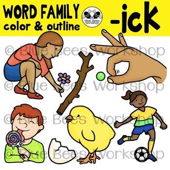 """ICK"" Word Family Clip Art"
