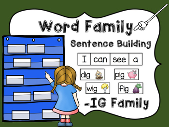 -IG Word Family Sentence Building