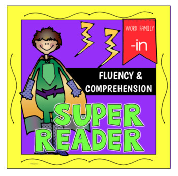 -IN Word Family Emergent Reader Fluency Reading Comprehension