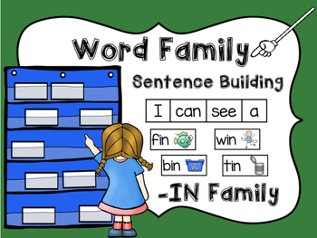 -IN Word Family Sentence Building