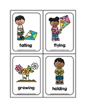 -ING Verb Spring Picture Word Flash Cards