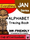 Alphabet Tracing Book: Reading and Tracing Letter Names