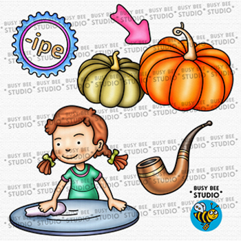 """-IPE"" Word Family Clip Art 