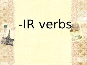 -IR Verb Conjugation - PP Lesson