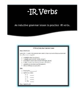 -IR Verbs Inductive Grammar Lesson