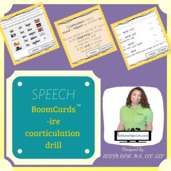 -IRE: Coarticulation Drill *BOOMCARD* 10 words