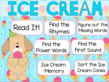 """Ice Cream"" Poem of the Week Flipchart for ActivInspire"